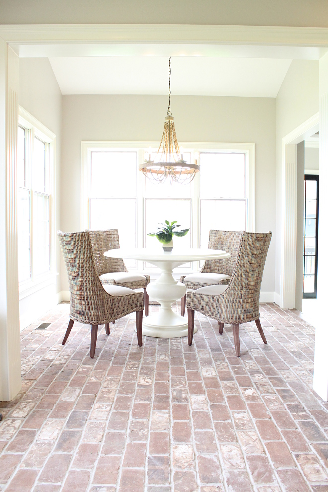 Farmhouse Breakfast room brick flooring Farmhouse Breakfast room brick flooring Farmhouse Breakfast room brick flooring #FarmhouseBreakfastroom #brickflooring