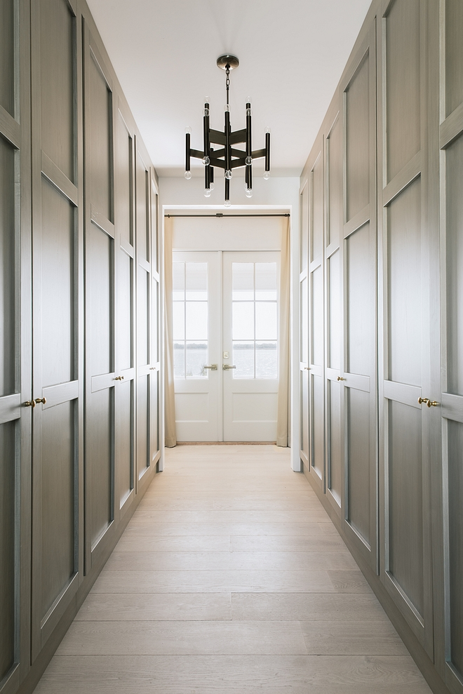 Hall Closet The master bedroom door leads into this hall with custom designed closets The actual bedroom is just off to the left, with the master bathroom to the right #masterbedroom #Hall #Closet