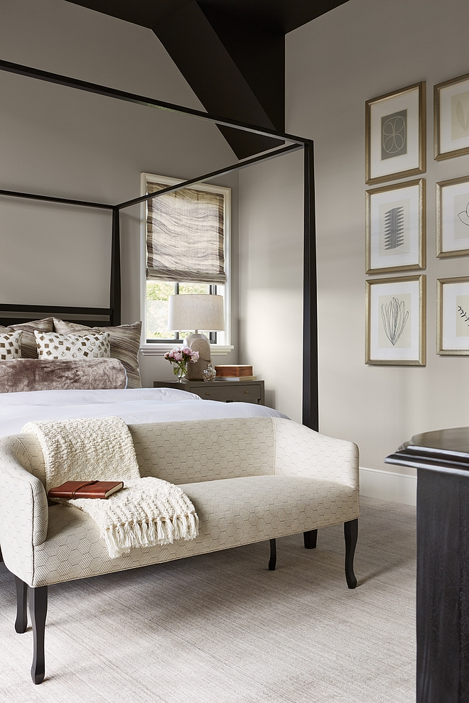 Benjamin Moore OC-28 Collingwood Wall color is Benjamin Moore OC-28 Collingwood Bedroom Benjamin Moore OC-28 Collingwood Grey Bedroom Benjamin Moore OC-28 Collingwood #BenjaminMooreOC28Collingwood #greybedroom