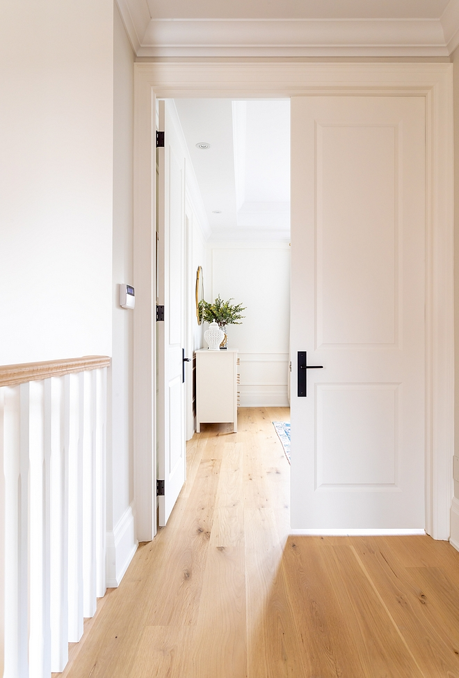 Light White Oak Hardwood Floors European white Oak unstained sanded on site Finished with a clear coat made by Loba #LightWhiteOak #Lighthardwoodfloors #HardwoodFloors #EuropeanwhiteOak