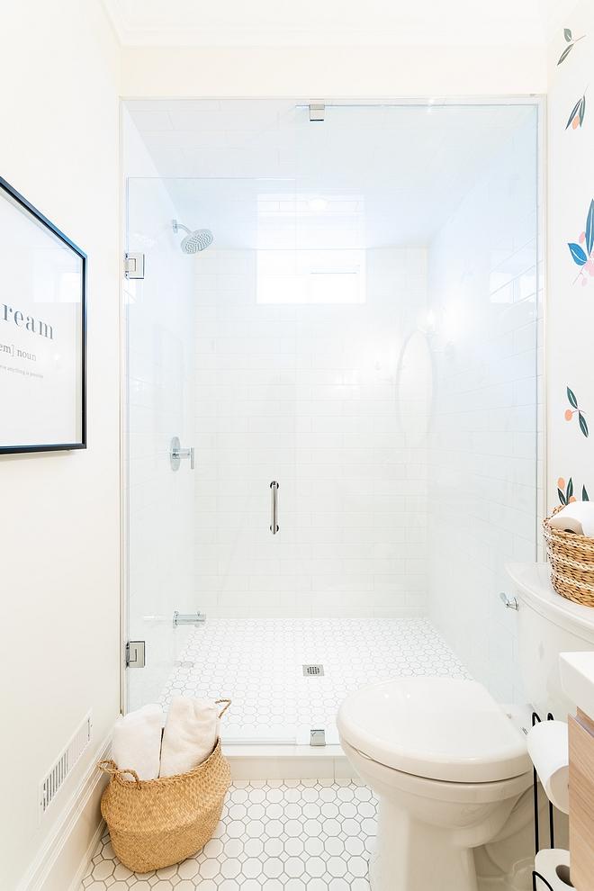 Shower Tile Affordable Shower Tile 4 x16 white subway tile in brick pattern #showertile #AffordableShowerTile #416whitesubwaytile