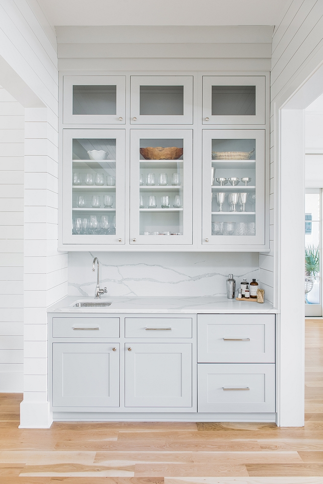 Sherwin Williams Repose Gray Kitchen Bar Cabinet Paint Color Sherwin Williams Repose Gray #SherwinWilliamsReposeGray #Kitchen #wetBar #kitchenbar #Cabinet #PaintColor #SherwinWilliams