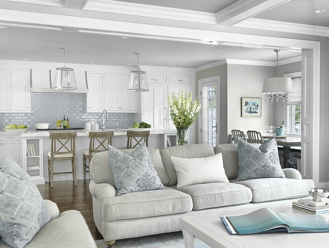 Interior Color Scheme Peaceful soothing interior color scheme featuring light greys blues blue grays and white color scheme #interiorcolorscheme #interior #colorscheme #grays #blues #whites