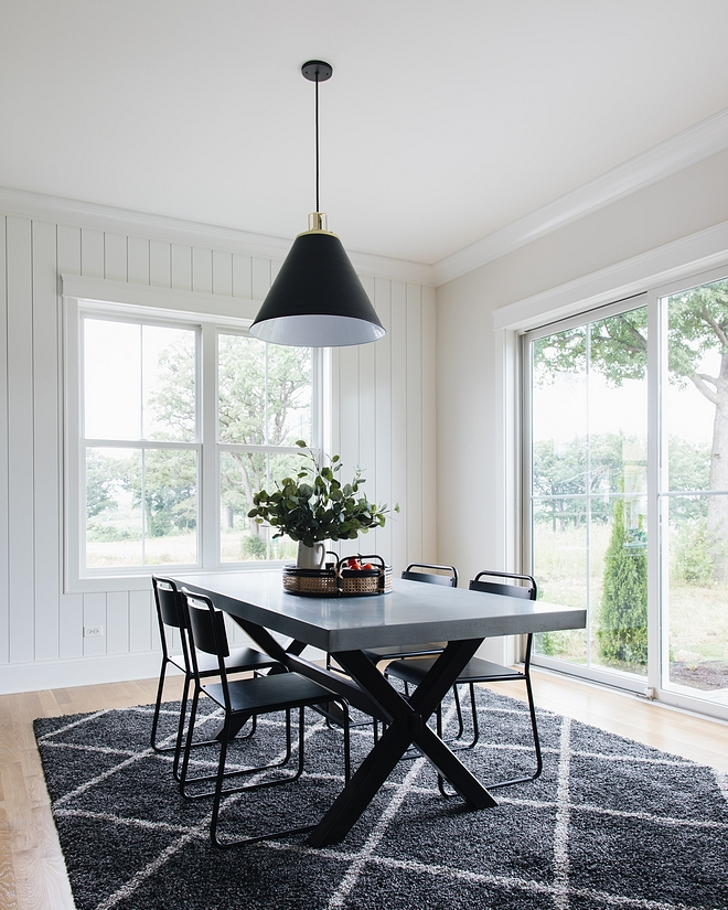 X base dining Table X base dining Table with concrete top Modern Farmhouse Dining room with X base dining Table X base dining Table #XbasediningTable