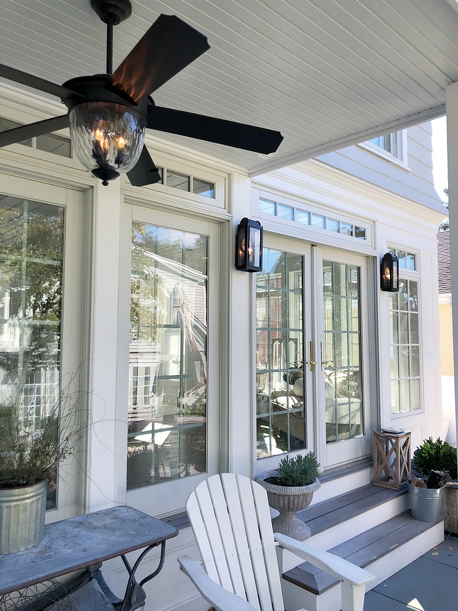 Back porch ceiling fan and lighting
