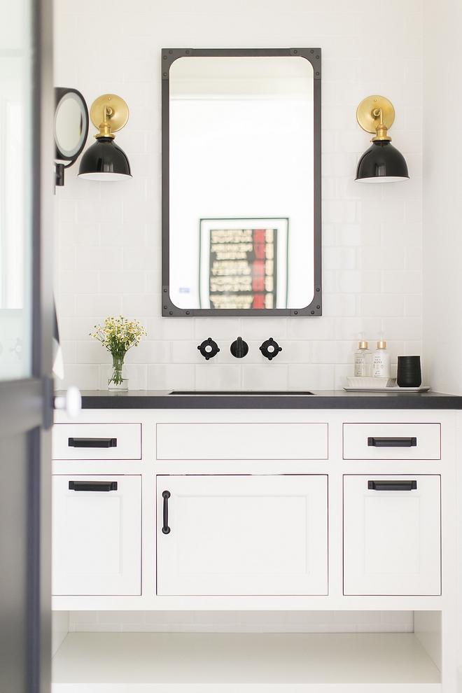 Benjamin Moore white dove bathroom vanity Benjamin Moore white dove bathroom vanity paint color #BenjaminMoorewhitedove #bathroomvanity