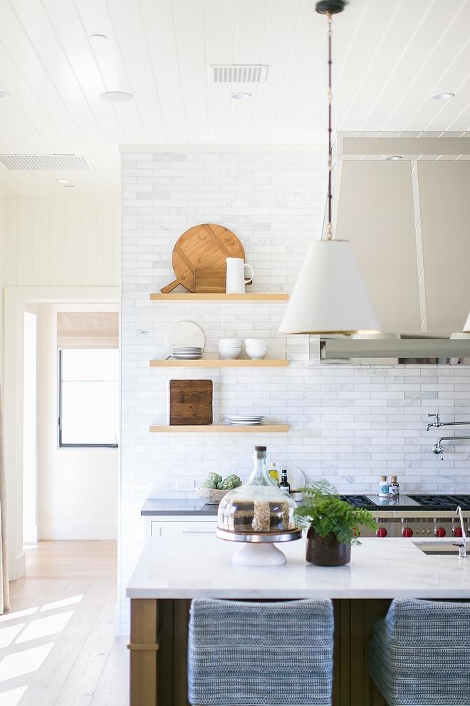 Kitchen Floating shelves Open shelving hold all our everyday dishes Kitchen shelves Kitchen Floating shelves White Oak Floating shelves #kitchen #openshelves #Floatingshelves
