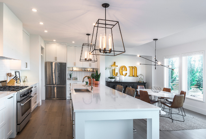 Benjamin Moore Oxford White Kitchen Modern Farmhouse Kitchen Shaker Panel Cabinets painted in Benjamin Moore Oxford White #Benjamin Moore Oxford White Kitchen Modern Farmhouse Kitchen Shaker Panel Cabinet #BenjaminMoore #OxfordWhite #Kitchen #ModernFarmhouseKitchen #ShakerPanelCabinet #shakercabinet