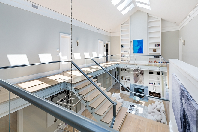 Staircase Modern Staircase with glass railing #modernstaircase #staircaseglassrailing
