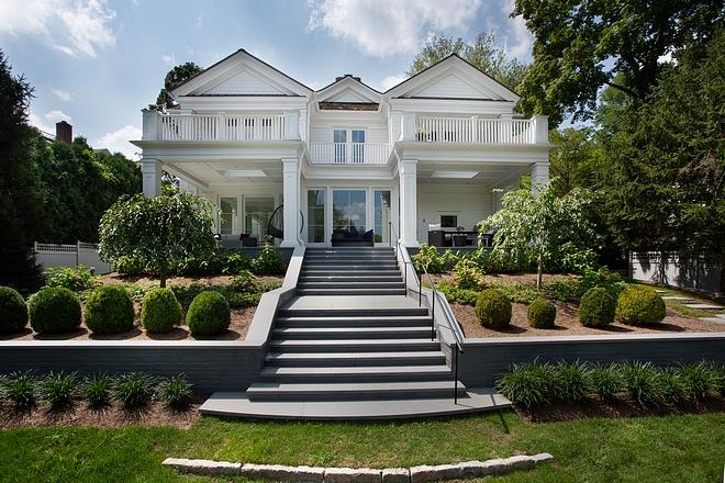 Rear view classic Hamptons house
