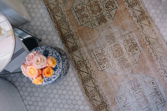 Vintage Distressed Oushak Rug Runner (one of a kind)