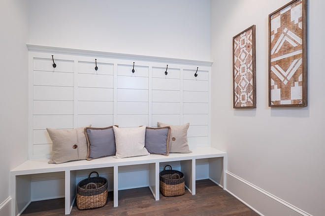 Mudroom Located right off the garage, this is a convenient spot to drop your bags, throw off your coat #mudroom