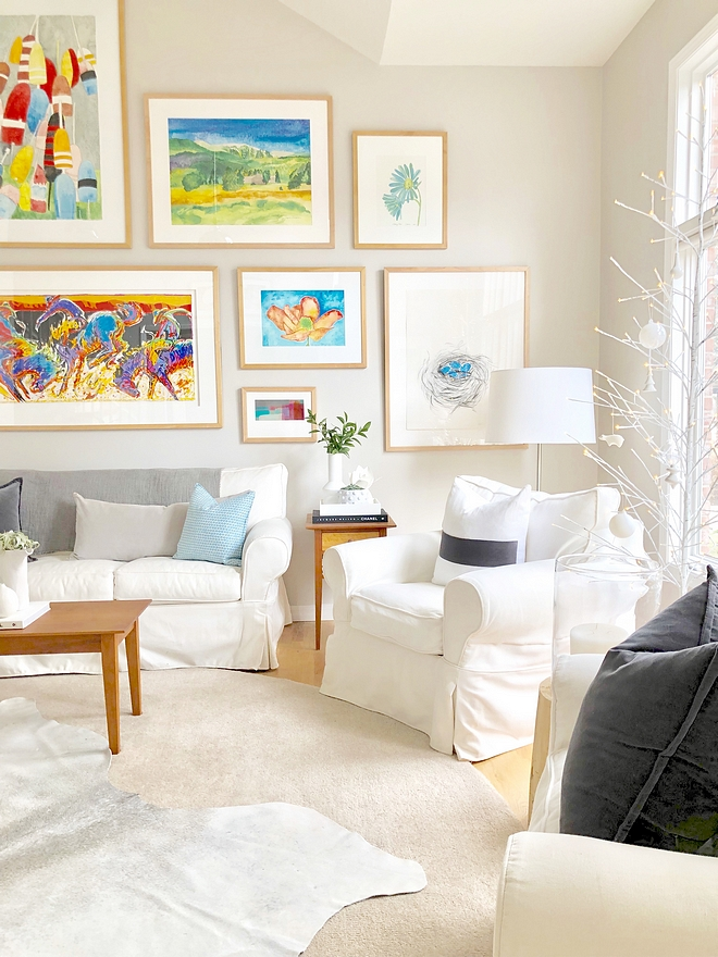 Balboa Mist by benjamin Moore works with color and neutral furniture #balboamistBenjaminMoore