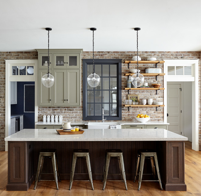 Farmhouse kitchen with brick backsplash Best ideas for Farmhouse kitchen with brick backsplash Farmhouse kitchen with brick backsplash Farmhouse kitchen with brick backsplash #Farmhousekitchenwithbrickbacksplash #Farmhouse #kitchen #brickbacksplash