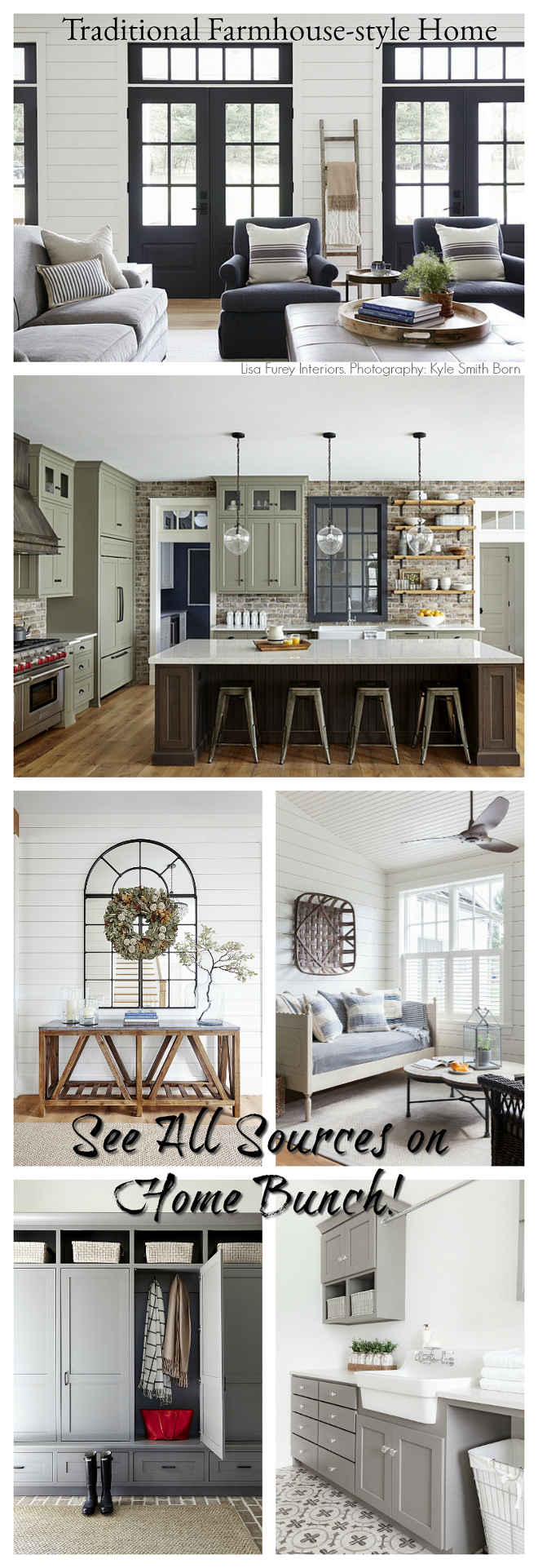 Traditional Farmhouse-style Home Design Ideas