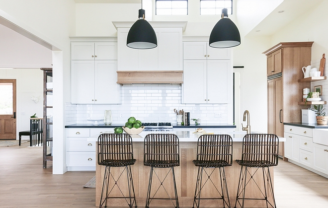 I chose finishes in keeping with my love of black, white, and wood. I love simplicity in design, and rely on contrast and textures for visual interest. While designing our home, I worked hard to keep things functional and pretty without being fussy #interiordesign