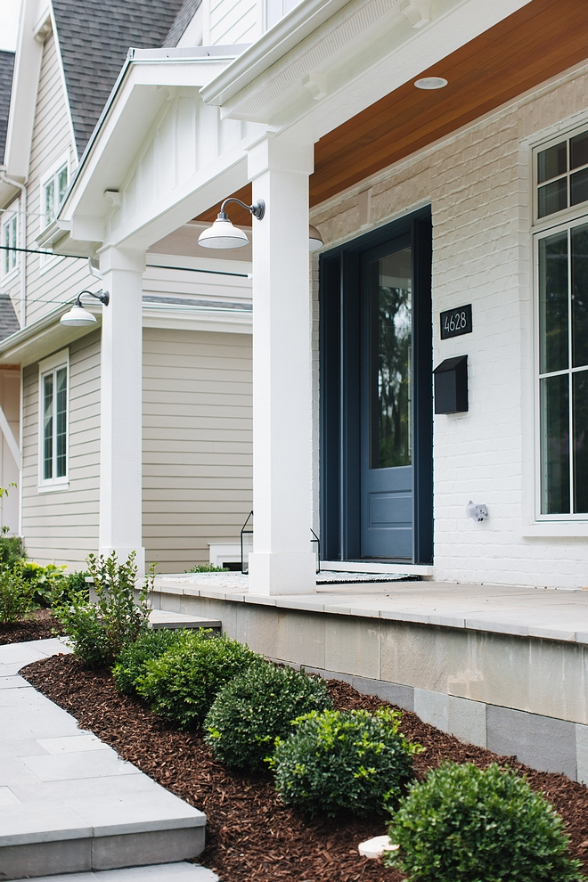 Farrow and Ball All White Painted Brick paint color Exterior brick paint color is Farrow and Ball All White Farrow and Ball All White Farrow and Ball All White #FarrowandBallAllWhite #whitebrick #sining #exterior #paintcolors #whitesiding