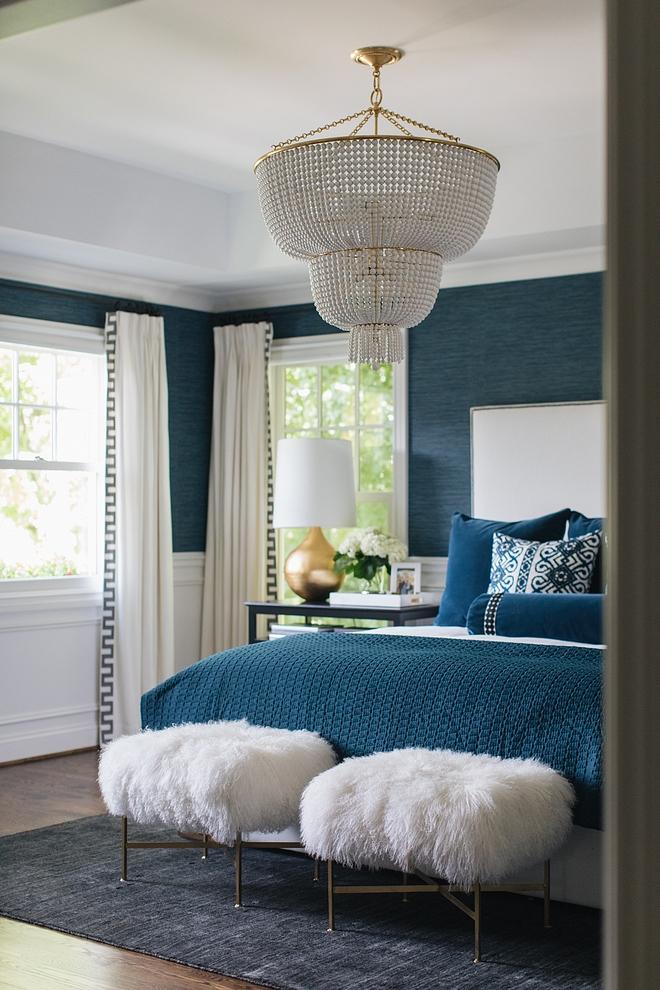 Beaded chandelier Bedroom with tiered beaded chandelier White and brass Beaded chandelier Beaded chandelier #Beadedchandelier