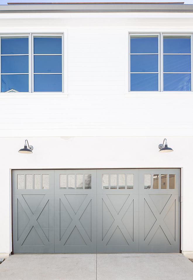 Grey garage door paint color Garage Door, window trim Farrow and Ball Down Pipe Grey garage door paint color Grey garage door paint color Grey garage door paint color Grey garage door paint color #Greygaragedoor #garagepaintcolor