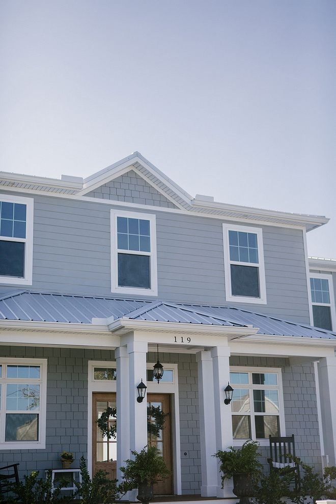 New Construction Home with Grey siding, white trim and metal roof New construction home ideas New construction exterior ideas New Construction Home with Grey siding, white trim and metal roof New construction home ideas New construction exterior ideas #NewConstructionHome #Greysiding #whitetrim #metalroof #Newconstruction