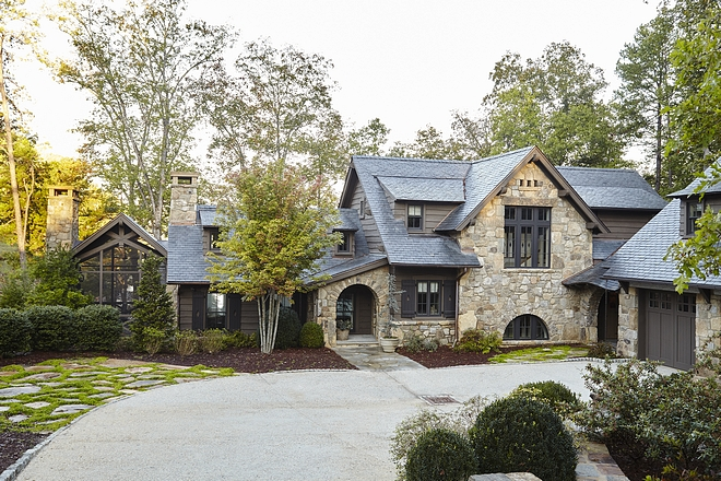 Stone exterior The exterior features windows with stone lintel and wood corbels Stone homes The exterior features windows with stone lintel and wood corbels #stoneexterior #stonehomes #exterior #windows #stonelintel #woodcorbels #exteriorcorbel #corbel
