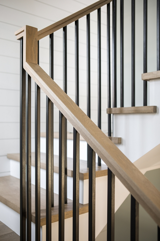 Staircase metal spindles The metal spindles are custom I love this clean and timeless look Staircase metal spindles Staircase metal spindle ideas Staircase metal spindles Modern farmhouse Staircase metal spindles #modernfarmhouse #Staircase #metalspindles