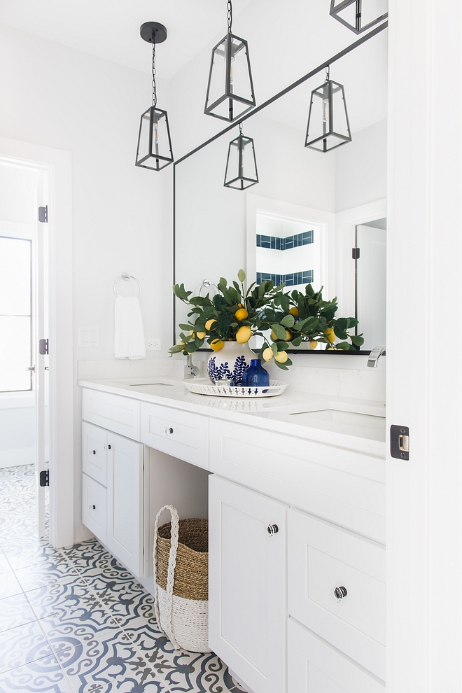 Jack and jill bathroom This is definitely a new take on Jack-and-Jill bathrooms! This space has plenty of character and the kids definitely won't outgrow it #kidsbathroom #jackandjill #bathroom