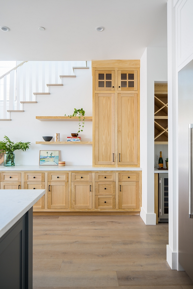 White Oak Kitchen Oak cabinetry was bleached and finished with a clear matte lacquer White Oak Kitchen White Oak Kitchen White Oak Kitchen #WhiteOakKitchen