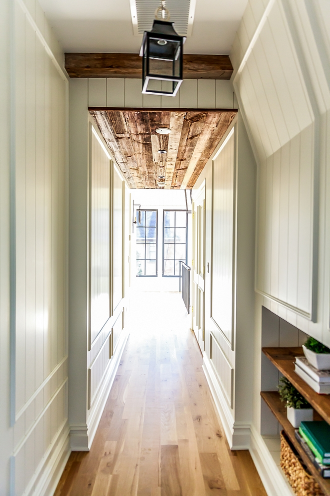 Reclaimed Plank Ceiling reclaimed wood Hallway with plank ceilings and paneled walls Reclaimed Plank Ceiling reclaimed Reclaimed shiplap planks Reclaimed Plank Ceiling reclaimed wood #ReclaimedPlankCeiling #ReclaimedPlanks #reclaimedshiplap #paneling #panels