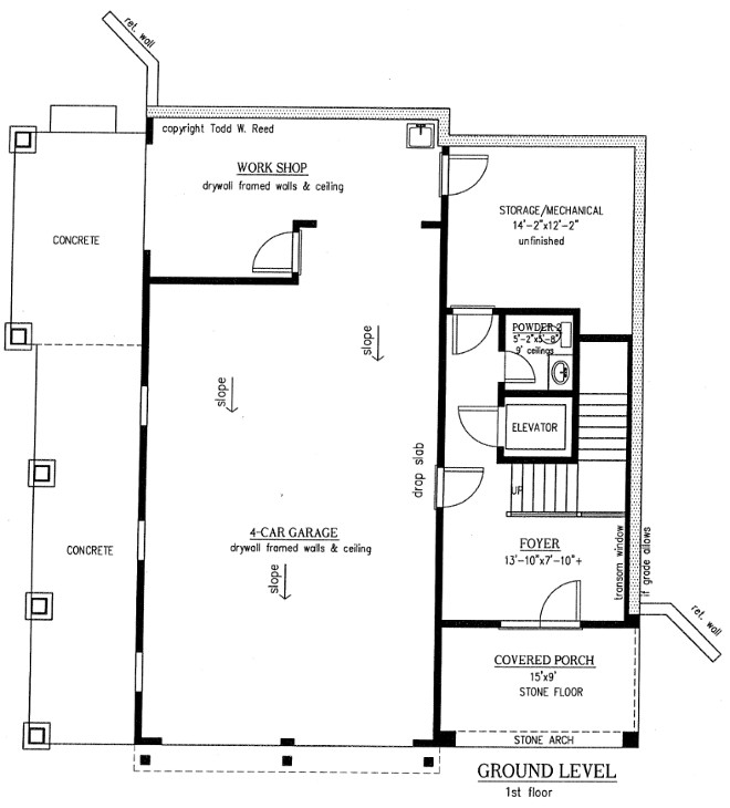 Ground level floor plan Floor Plan - Ground Level Entry