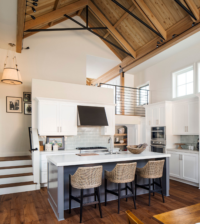 Sherwin Williams 7674 Peppercorn The kitchen island paint color is Sherwin Williams Peppercorn Sherwin Williams 7674 Peppercorn Sherwin Williams 7674 Peppercorn #SherwinWilliamsPeppercorn