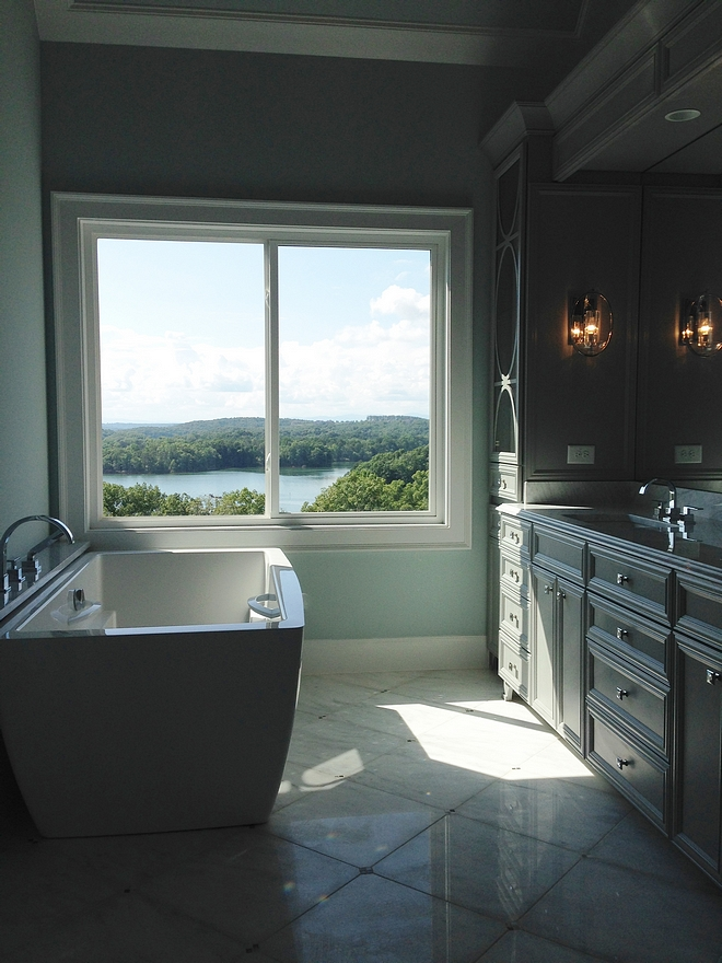 Sherwin Williams Tradewind SW 6218 Blue grey bathroom paint color Sherwin Williams Tradewind SW 6218 Sherwin Williams Tradewind SW 6218 Sherwin Williams Tradewind SW 6218 #SherwinWilliamsTradewind #SherwinWilliamsSW6218