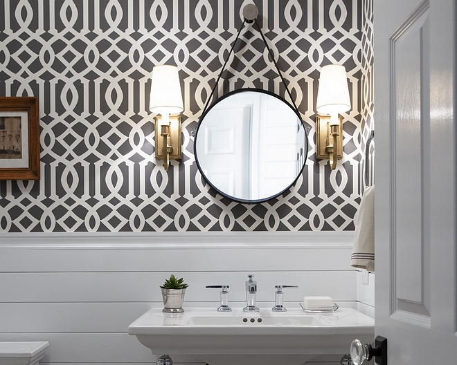 Shiplap wainscoting This has been one of my favorites wallpaper for many years now and it never goes out of style. It looks even better with the fresh shiplap wainscoting Wallpaper over shiplap wainscoting #Shiplapwainscoting #wallpaper