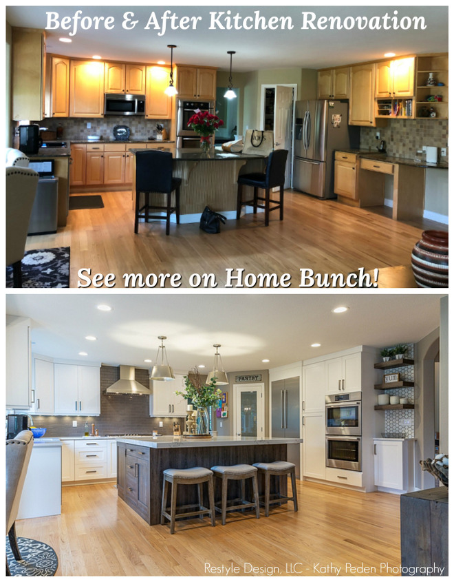 Kitchen renovation before and after pictures Renovation on a budget
