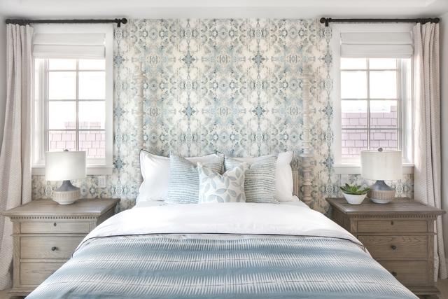 Bedroom Wallpaper Bedroom Wallpaper Blue grey soft colors Bedroom Wallpaper #Bedroom #Wallpaper