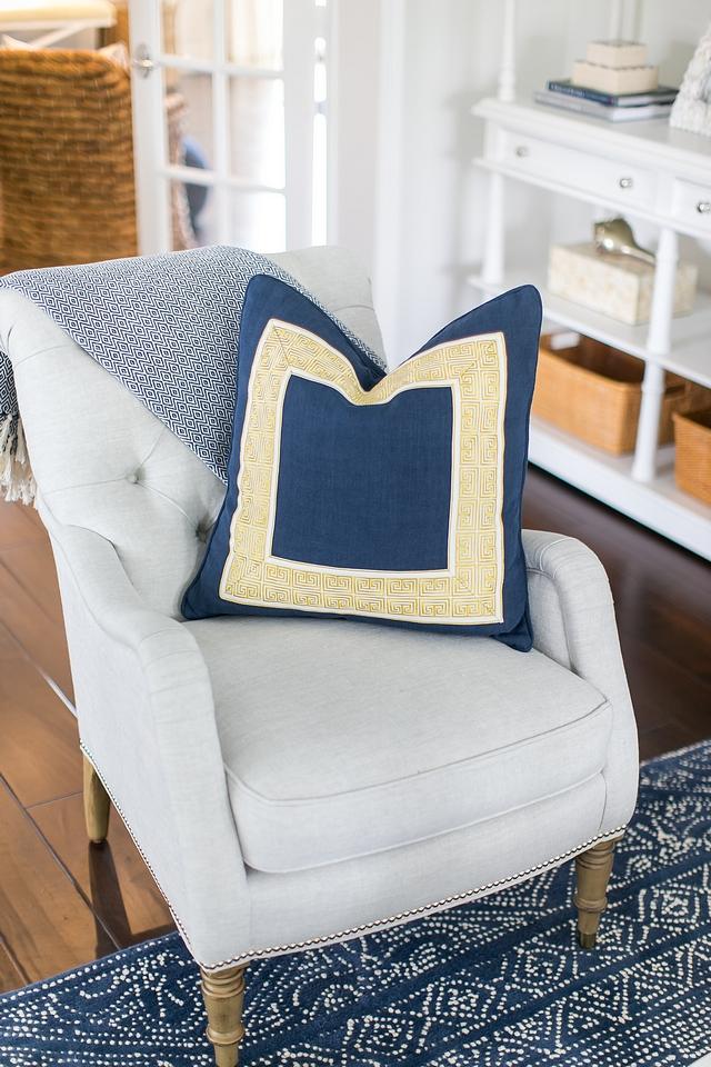 Chair Pillow Greek Key Trim Pillow Traditional Chair Pillow Greek Key Trim Pillow Ideas #Chair #Pillow #GreekKey #GreekKeyTrim #GreekKeyPillow