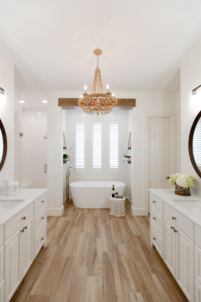 Sherwin Williams Alabaster for all walls, vanities, doors and trim, shiplap and baseboards Ceiling Sherwin Williams untinted white Sherwin Williams Alabaster Sherwin Williams Alabaster Sherwin Williams Alabaster #SherwinWilliamsAlabaster #SherwinWilliams #Alabaster