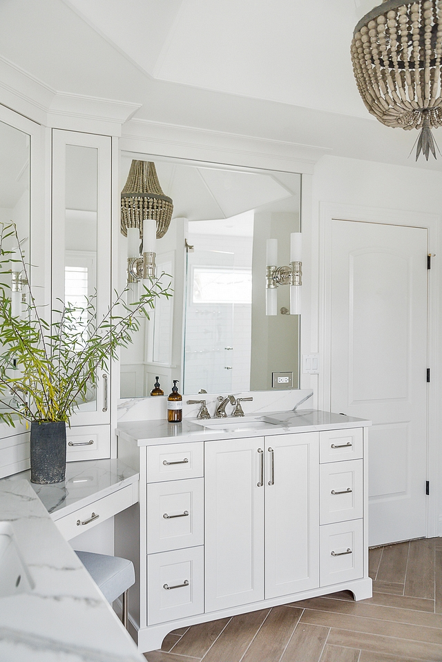 Benjamin Moore Classic Gray Bathroom cabinetry is by the Plain and Posh custom collection in Benjamin Moore Classic Gray Benjamin Moore Classic Gray #BenjaminMooreClassicGray