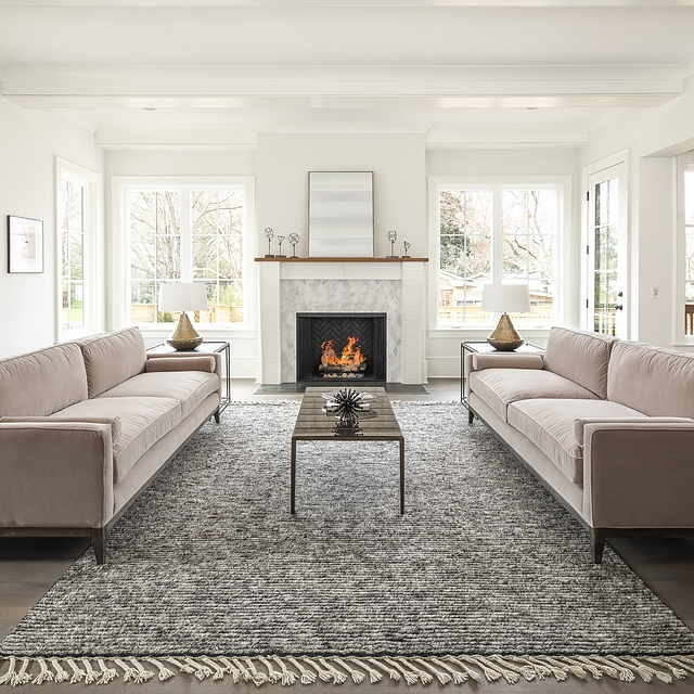 Paint Color in all the main living areas of this home is Benjamin Moore Dove Wing with trim being Benjamin Moore White Dove #BenjaminMooreDoveWing #BenjaminMooreWhiteDove