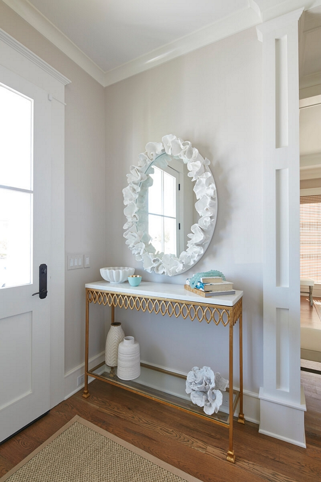 Balboa Mist OC-27 by Benjamin Moore is part of the Benjamin Moore Off-White Colour collection and this color is the same color as the sand on a sandy beach Beautiful, warm and soothing Balboa Mist OC-27 by Benjamin Moore Balboa Mist OC-27 by Benjamin Moore #BalboaMistOC27BenjaminMoore #BenjaminMoore #paintcolor