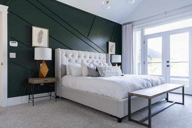 Bedroom Accent Wall Our master bedroom feature wall, with its vertical slats and moody jewel toned colour, makes me smile every time I see it Bedroom Accent Wall #Bedroom #AccentWall