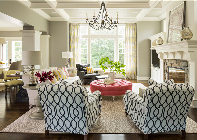 Beautiful living room paint color - Valley Forge Tan