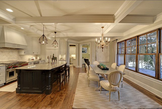 kitchen island pendant lights laminate flooring lake home with beautiful interiors - bunch interior ...