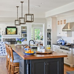Blue Kitchen Island Wood Chairs Ideas Appliances Tips And Review Bluekitchencounter White With Navy Paint Color