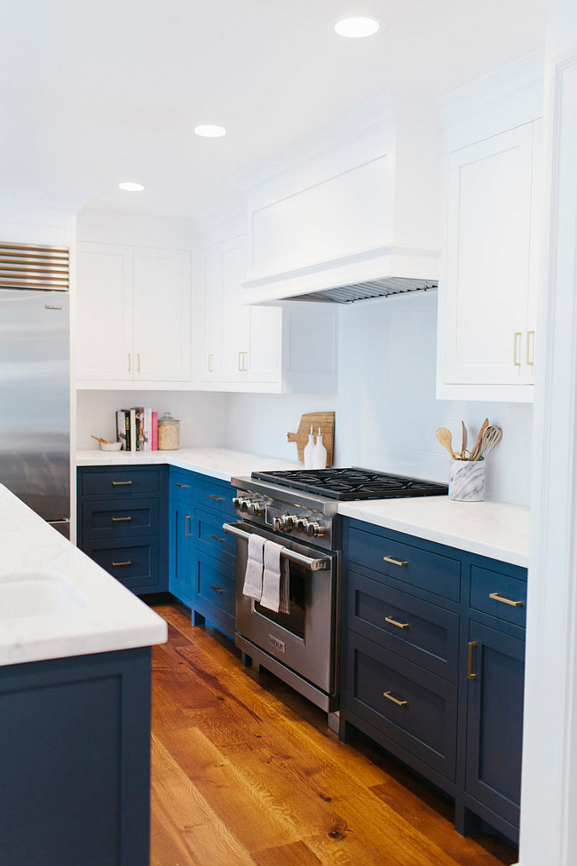 Before and After Twotoned Kitchen Reno  Home Bunch