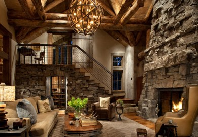 Rustic Ski Lodge Home Bunch An Interior