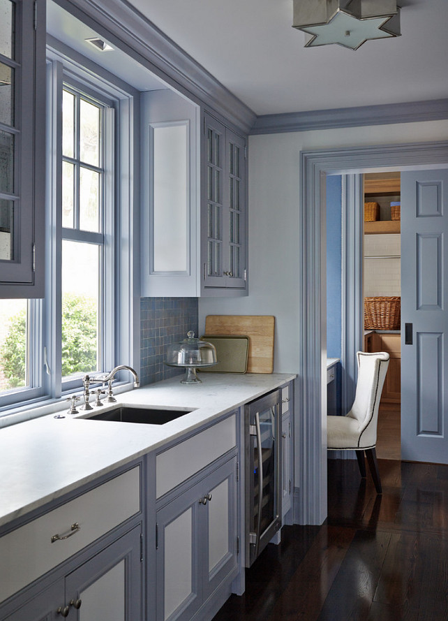 antique white kitchen cabinets island renovation east coast-inspired shingle house - home bunch interior ...