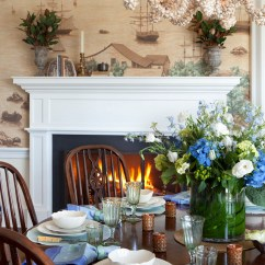 Kitchen Island With Shelves Tile Floors Traditional Nantucket Cottage Coastal Interiors ...