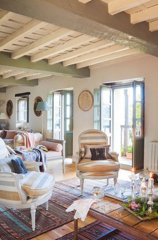 French Country Cottage with Christmas Decor  Home Bunch Interior Design Ideas