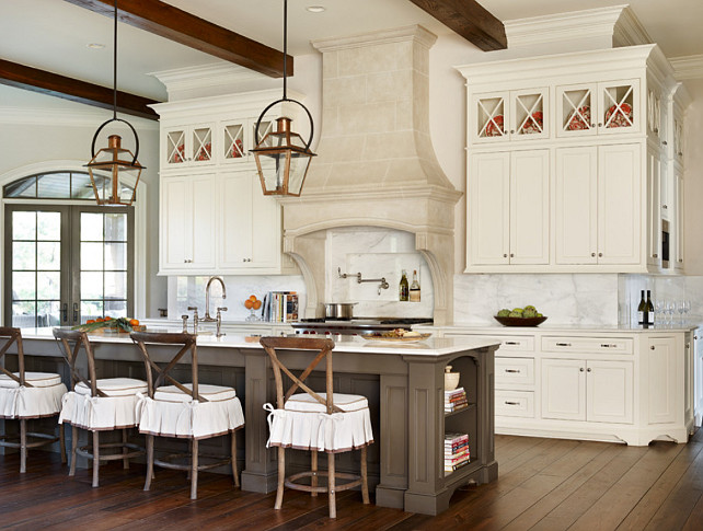 French Kitchen French Kitchen with large island and